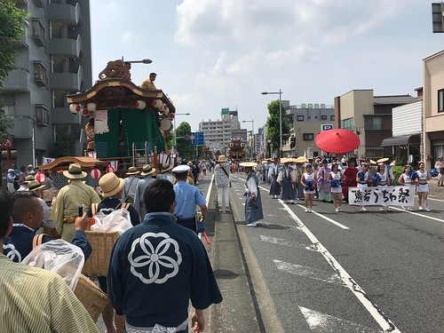 巡行祭の様子(うちわ祭2018)