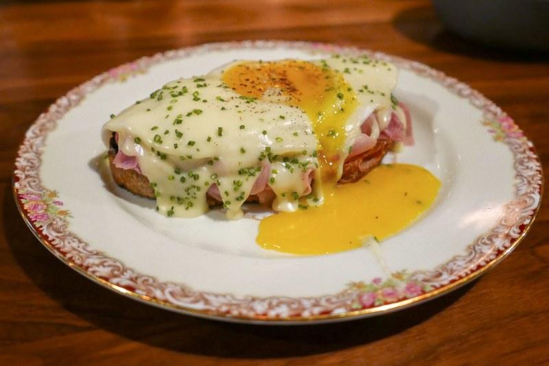 Benton's Ham, Duck Egg, Mornay, Sourdough $15