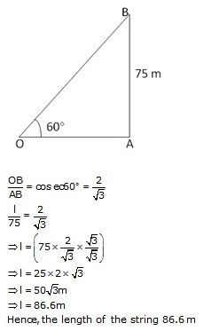 RS Aggarwal Solutions Class 10 Chapter 14 Height and Distance Ex 14a 3