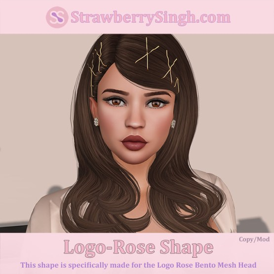 StrawberrySingh.com Logo-Rose Shape