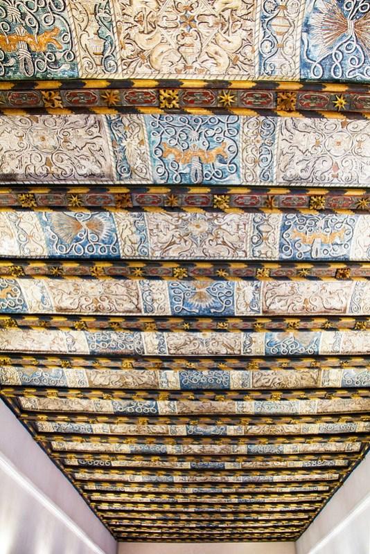 techo de escalera palacio de los Reyes Catolicos Palacio Aljaferia Zaragoza 01