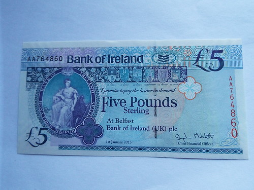 Bank of Ireland £5 - Northern Ireland