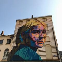 #streetart #thechrystalship #oostende #ostend #visitoostende #vsco #vscocam #colours #wall #wanderlust #belgium #guardiantravelsnaps #blue #sky #city #art #streetartistry