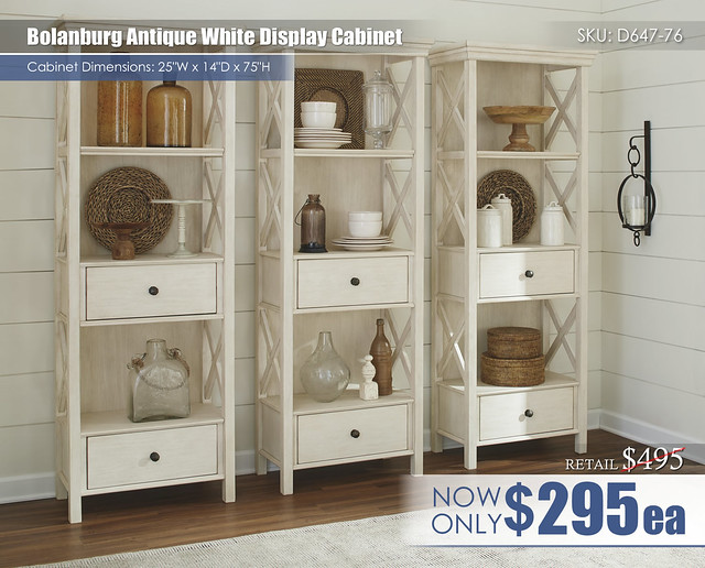 Bolanburg Antique White Display Cabinet_D647-76(3)