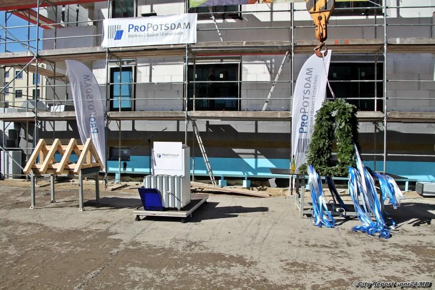 Richtfest im Bornstedter Feld - ProPotsdam knackt Marke von 1000 Neubauwohnungen