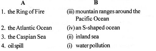 ICSE Solutions for Class 6 Geography Voyage - Major Water Bodies 3.1