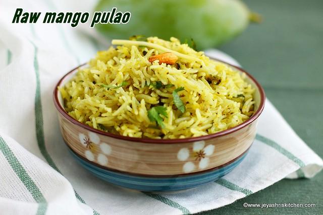 Raw mango pulao