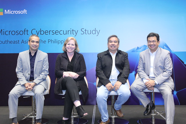 Security experts discuss the economic impact of cybersecurity in the PH during Microsoft's study launch. From L-R Hans Bayaborda, Managing Director,