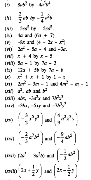 Maths Questions For Class 8 ICSE With Answers-algebraic-expressions-C-1