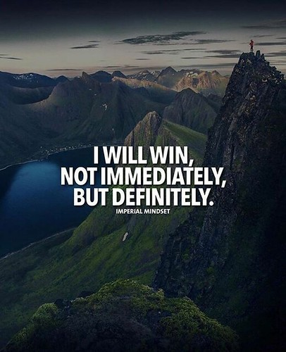 Inspirational Positive Quotes :I will win..