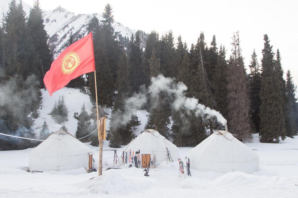 Kyrgyzstan flag at Ak-Suu