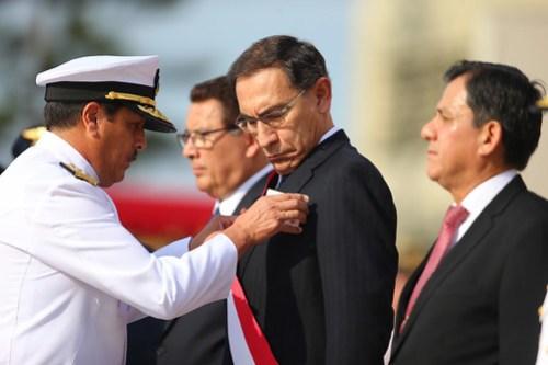 El presidente Vizcarra fue reconocido como jefe supremo de las Fuerzas Armadas y la Policía Nacional del Perú.