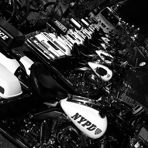 Police Motorcycles by DJ Lanphier