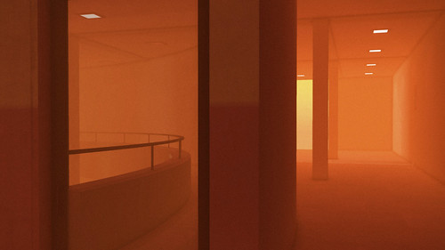 Concrete studied under orange light - 3