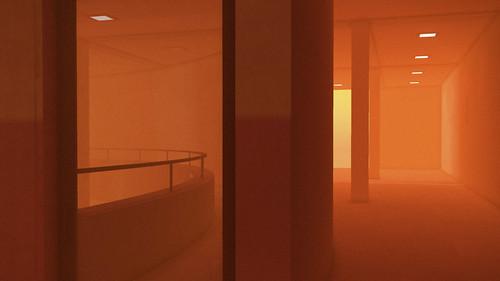 Concrete studied under orange light - 3