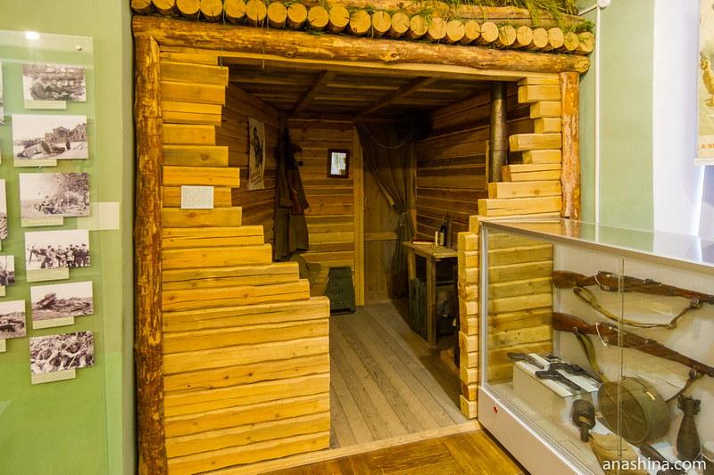 Макет землянки, Калужский краеведческий музей