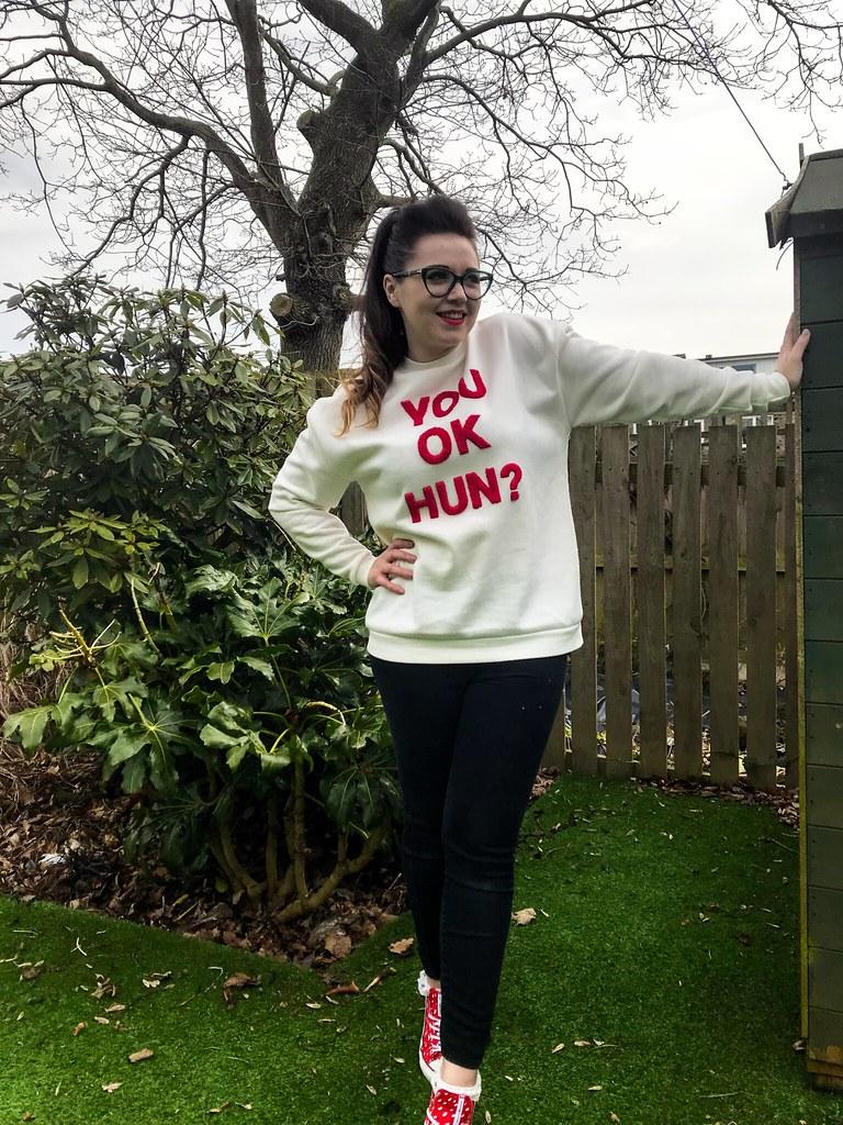 Georgia-Slogan-Sweat-You-OK-Hun-Primark-Sweater