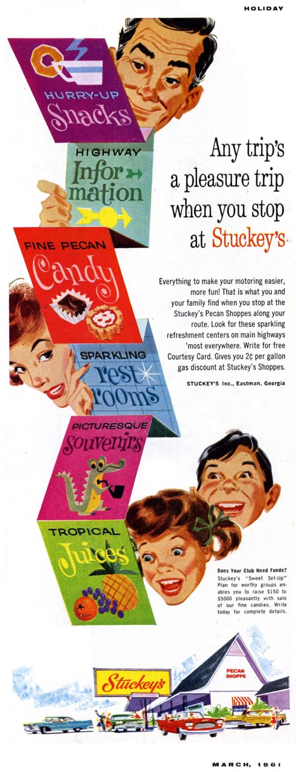 Stuckey's - published in Holiday - March 1961