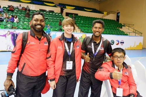 Coaches (l-R) Kugendran, Rachael, Ashok and Johnson