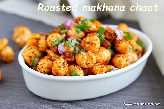 Roasted phool makhana chaat