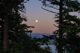 Full Moon over Samish Island