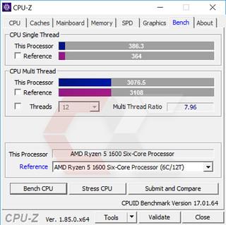 CPUZ Ryzen 5 1600 4 - OverCluster
