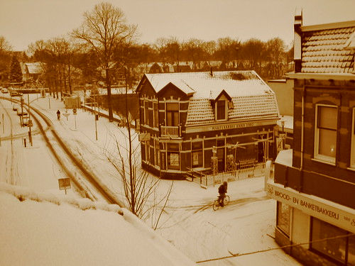Havenstraat cubierta de nieve