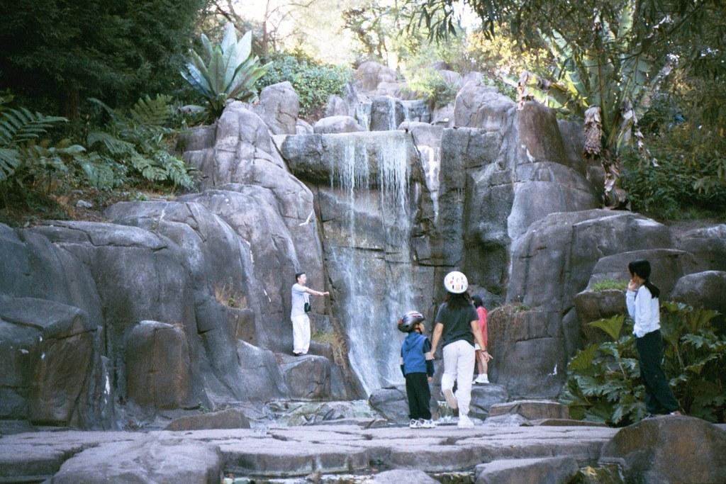 Waterfall along Stow Lake