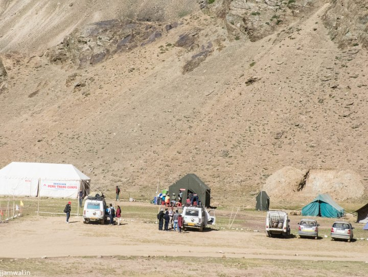 Uncontrolled movement of vehicles everywhere. Campsite owners digging up hills