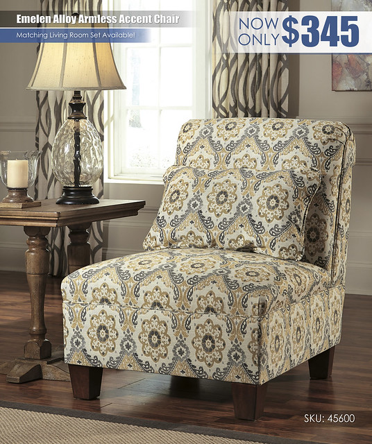 Emelen Alloy Armless Accent Chair_45600-46