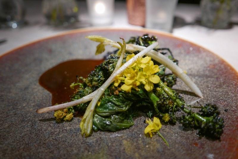 Cabbages, smoked onion, Jerusalem artichoke shoots, jus fermented cabbage | Vilhjalmur Sigurdarson | Souvenir | Ghent, Belgium