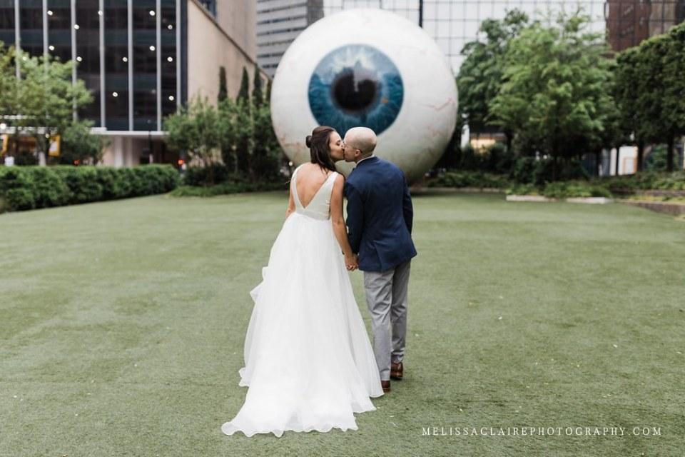 Giant Eyeball Wedding Photos