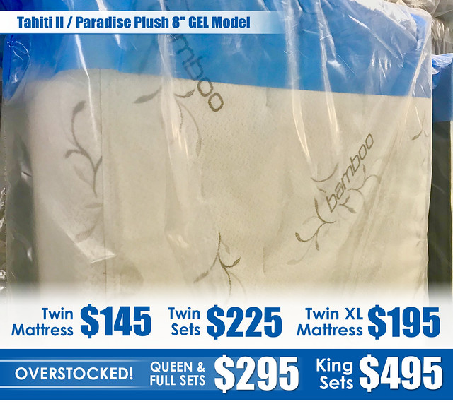 Tahiti II Paradise Plush 8in GEL Mattress_OVERSTOCKED