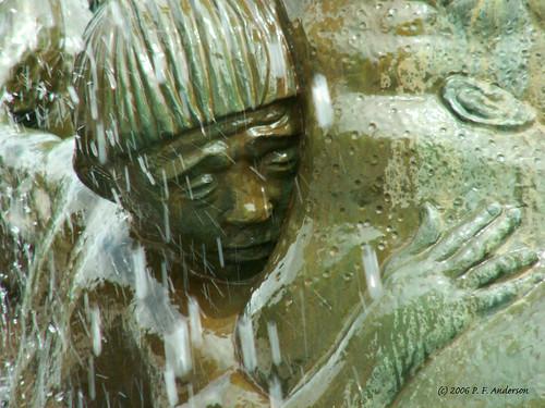 The Sad Boy in the Fountain