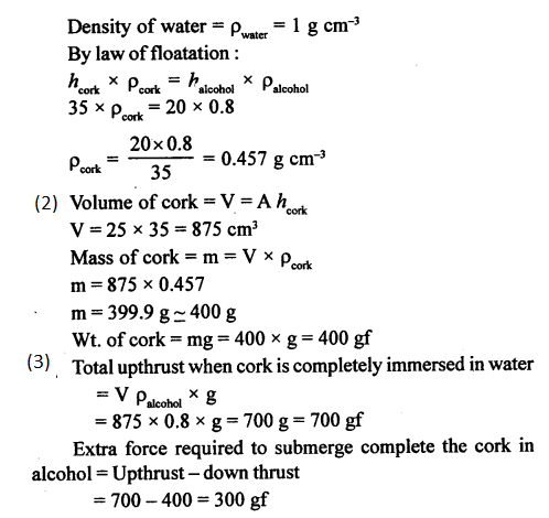 A New Approach to ICSE Physics Part 1 Class 9 Solutions Archimedes' Principle..0018