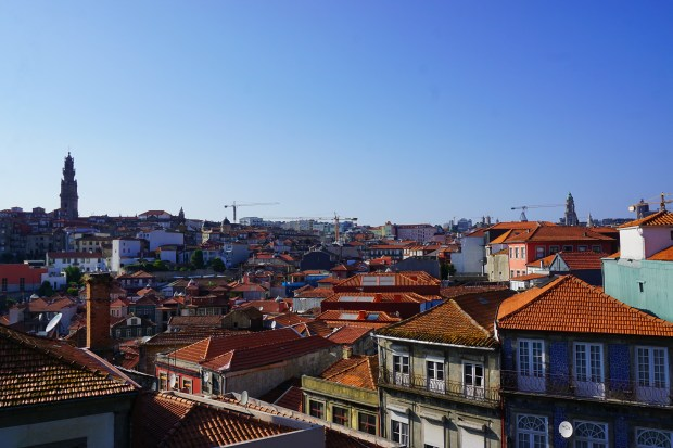 Rooftops in the old city center, Porto