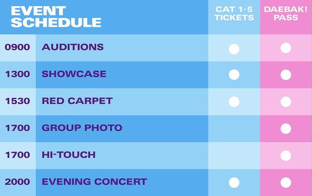 HallyuPopFest 2018 - Event Schedule (updated)
