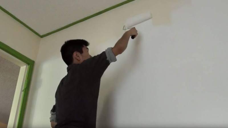 Painting the studio walls