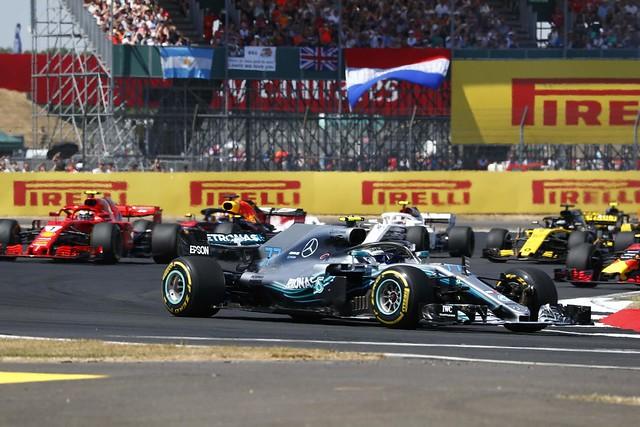 Mercedes-AMG Petronas Motorsport車隊的Valtteri Bottas於英國站拿下第四名