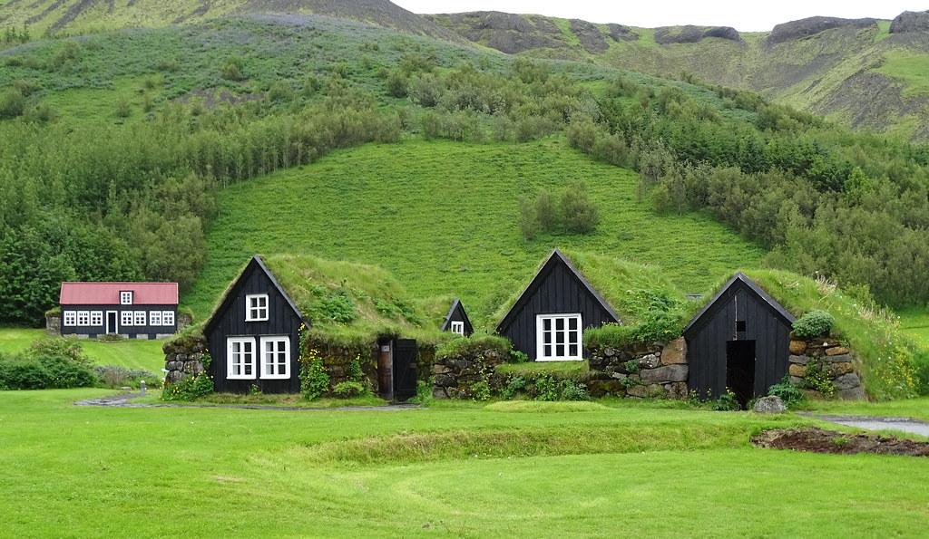Granja Turf edificios arquitectura de Islandia Museo al aire libre de Skógar 01