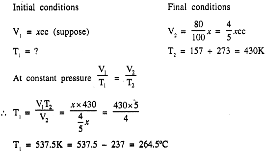New Simplified Chemistry Class 9 ICSE Solutions - Study of The First Element - Study of Gas Laws 6.2