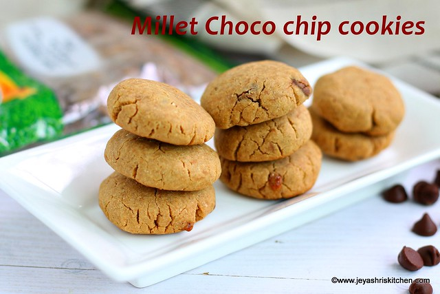 Millet chocolate chip cookies
