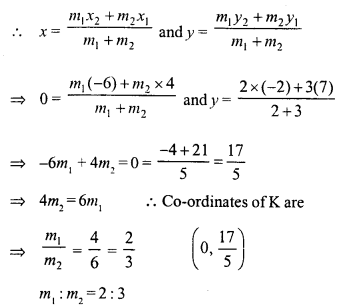 Selina Concise Mathematics Class 10 ICSE Solutions Chapter 13 Section and Mid-Point Formula Ex 13A 22.1