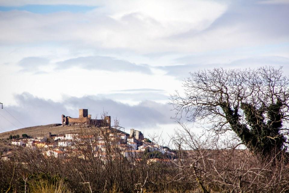 Castillo de Trasmoz vista desde Vera de Moncayo Zaragoza
