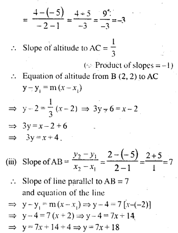 Selina Concise Mathematics Class 10 ICSE Solutions Chapter 14 Equation of a Line Ex 14D 19.1