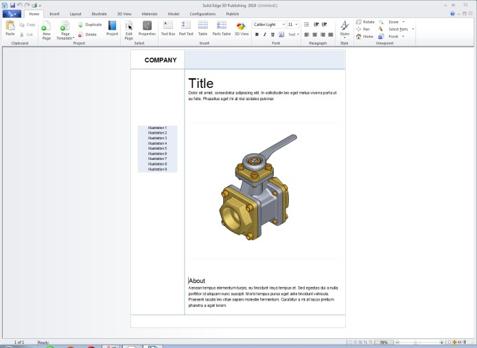 Working with Siemens Solid Edge 2019 Technical Publications full