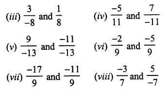 RS Aggarwal Class 7 Solutions Chapter 4 Rational Numbers
