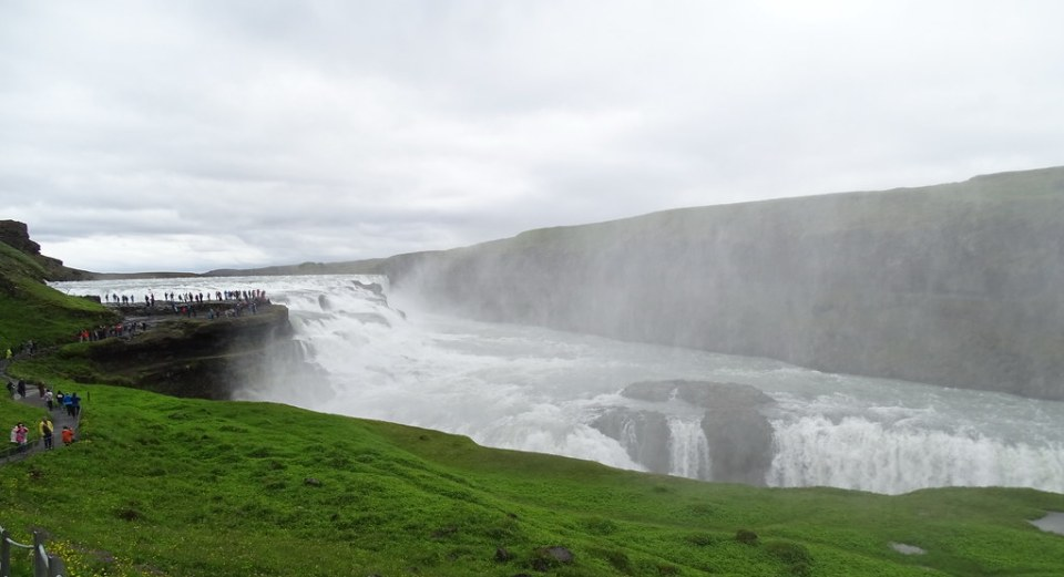 Cascada Gullfoss Dorada o de oro rio Hvita Islandia 08