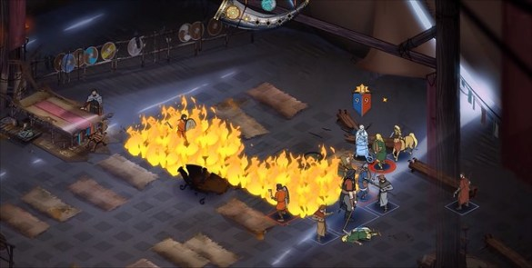 The Banner Saga 3 - Tent Fire