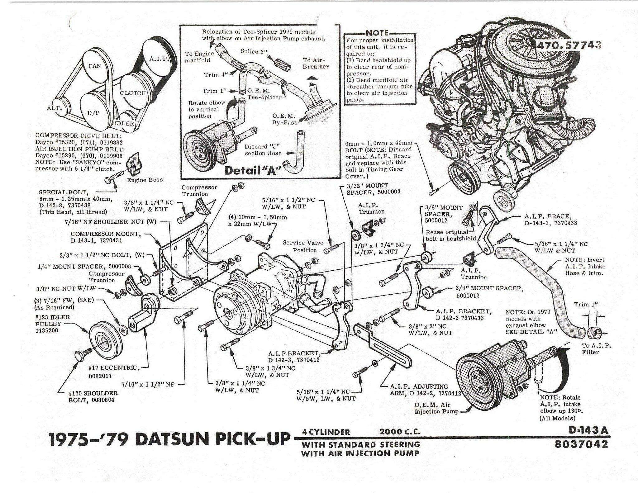620 A C Compressor Mount